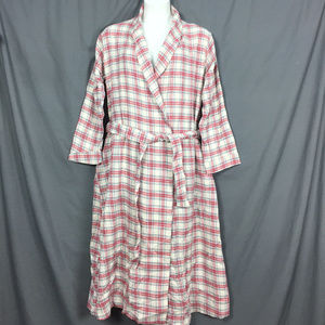 Woman Within Flannel Robe 18/20 plaid